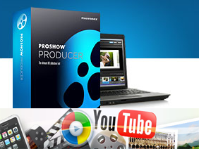 ProShow видеоредактор и ноутбук