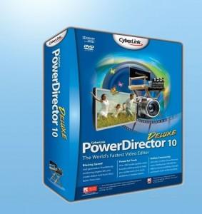 Видеоредактор CyberLink PowerDirector на голубом фоне